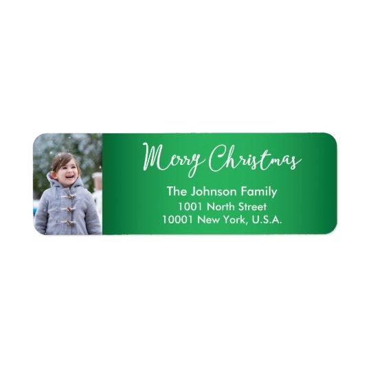 Custom Christmas Greetings Return Address Labels