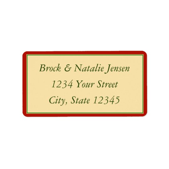 Custom Christmas Holiday Envelope Address Label