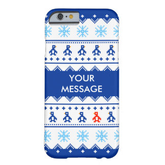 Custom Christmas Jumper Penguin & Snowflake Case