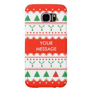 Custom Christmas Jumper Tree & Holly Case