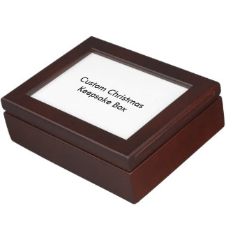 Custom Christmas Keepsake Box
