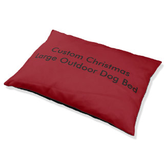 Custom Christmas Large Outdoor Dog Bed