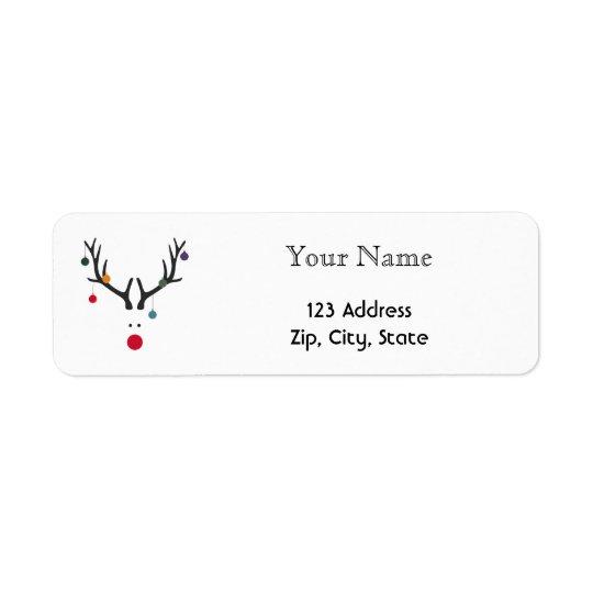 Custom Christmas minimalist modern reindeer white