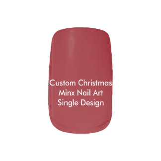 Custom Christmas Minx Nail Art Single Design