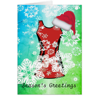 Custom Christmas Netball and Snowflakes Card
