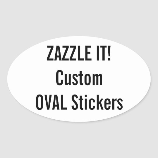 Solid color bumper stickers car stickers for Oval bumper sticker template