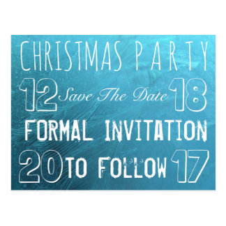 Custom Christmas Party Save The Date Frozen Ice Postcard