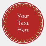 Custom Christmas Round Stickers
