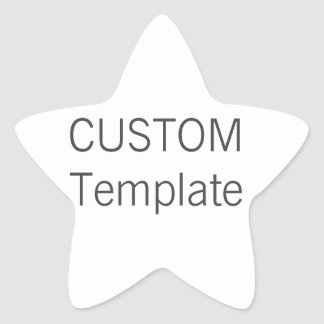 Custom Christmas STAR Shaped Gift Stickers