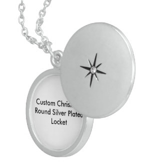 Custom Christmas Sterling Silver Round Locket