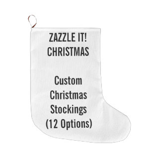 Custom Christmas Stocking LARGE 1-sided Print