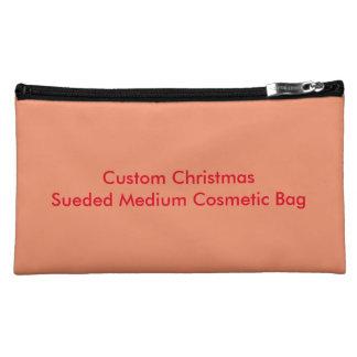 Custom Christmas Sueded Medium Cosmetic Bag