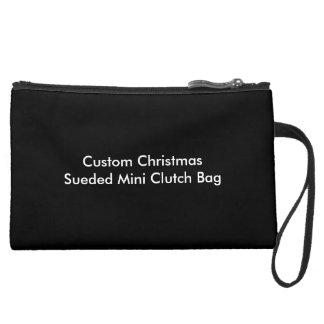 Custom Christmas Sueded Mini Clutch Bag