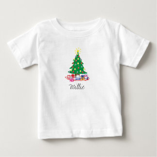 Custom Christmas Tree Baby T-Shirt