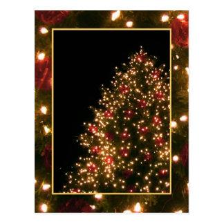Custom Christmas Tree Postcard Postcards
