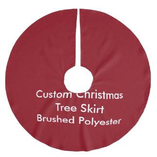 Custom Christmas Tree Skirt, Brushed Polyester Brushed Polyester Tree Skirt