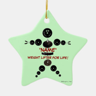 Custom Christmas Weight Lifter Christmas Ornament