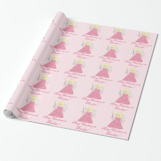 Custom Christmas wrapping paper cute pink Angel