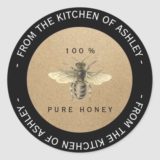 Custom Circular Homemade Honey Kitchen Kraft Bee Classic