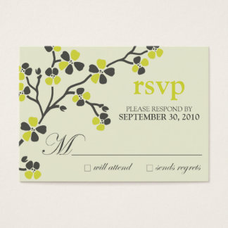 :custom: citrus cherry blossom rsvp card