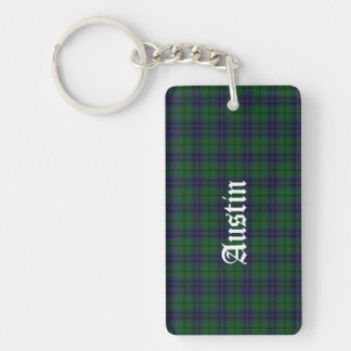 Custom Clan Austin Tartan Plaid Key Chain