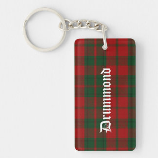 Custom Clan Drummond Tartan Plaid Key Chain