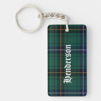 Custom Clan Henderson Tartan Plaid Key Chain