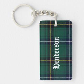 Custom Clan Henderson Tartan Plaid Key Chain