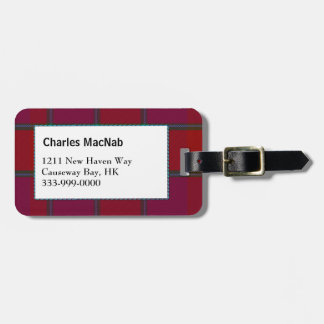 Custom Clan MacNab Tartan Plaid Luggage Tag