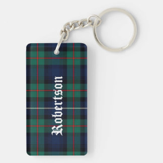 Custom Clan Robertson Tartan Plaid Key Chain