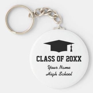 Custom class of graduation party favor keychains