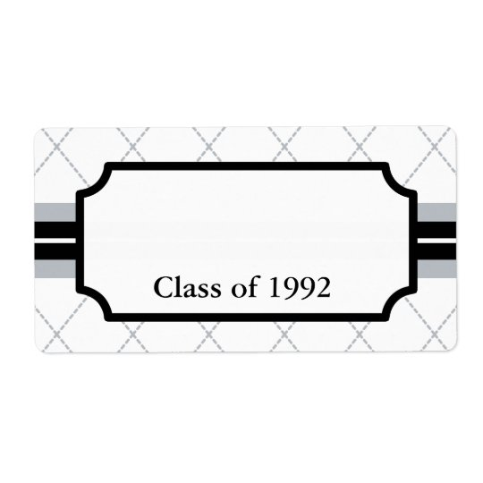 Custom Class Reunion Conference Name Tags Labels