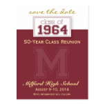 :custom: Class Reunion Save-the-Date Announcement Postcard