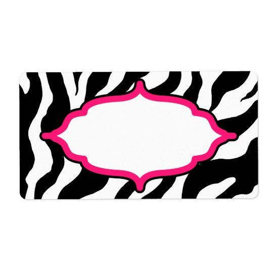 Custom Classic  Zebra Labels