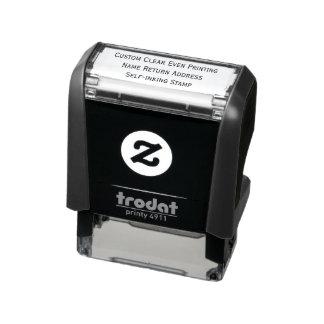 Custom Clear Even Printing Name Return Address Self-inking Stamp