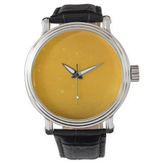 Custom clock yellow watch