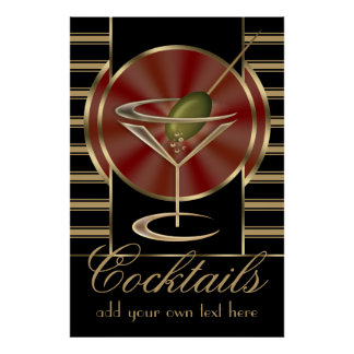 Custom Cocktail Large Poster