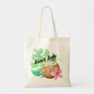 Custom Coconut palm tote - add your text