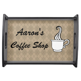 Custom Coffee Shop Serving Snack Decor Tray Gift