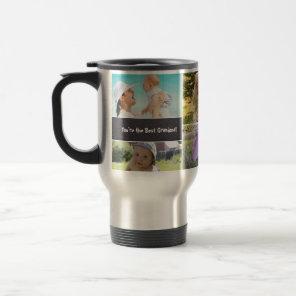Custom Collage 6 Photo  Personalised chalked Travel Mug