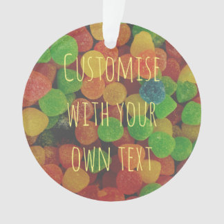 Custom Cololrful Gumdrops Ornament