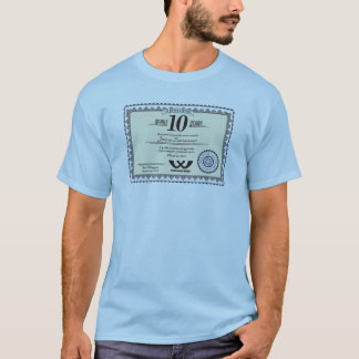 Custom color 10 year employment service award T-Shirt