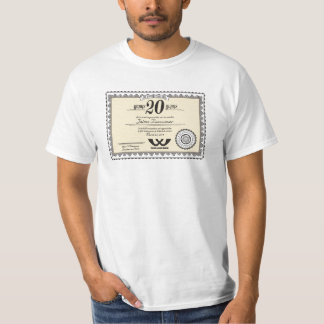 Custom color 20 year employment service award T-Shirt