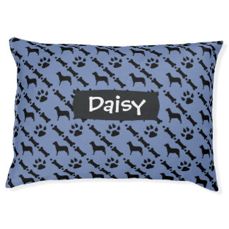 Custom Color and Name Dog Bed