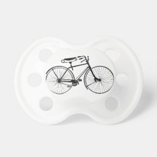 Custom Color Background   Vintage Bicycle Baby Pacifier