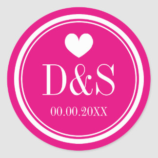 Custom color background wedding favor stickers