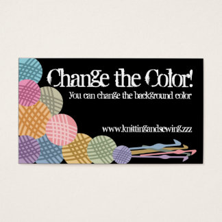 Custom color balls of yarn crochet hooks biz cards