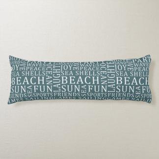 Custom Color Beach House body pillow