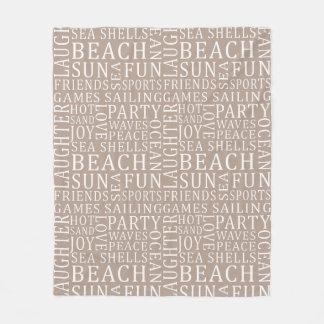 Custom Color Beach House fleece blanket