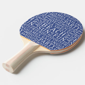 Custom Color Beach House ping pong paddle